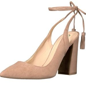 Guess Brit's Ankle Tie Pump Blush Pink Lace Up